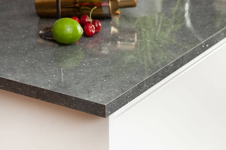 Grey Quartz Brasilia Worktop Corner