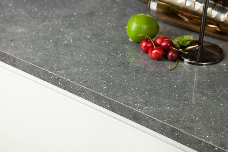 Grey Quartz Brasilia Worktop Edge