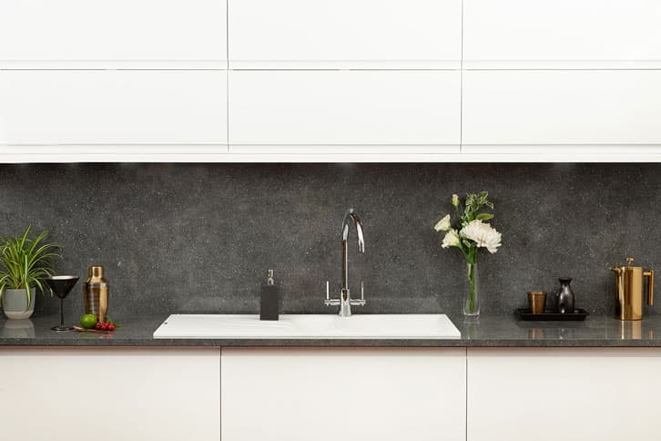 Grey Quartz Brasilia Worktop in Kitchen