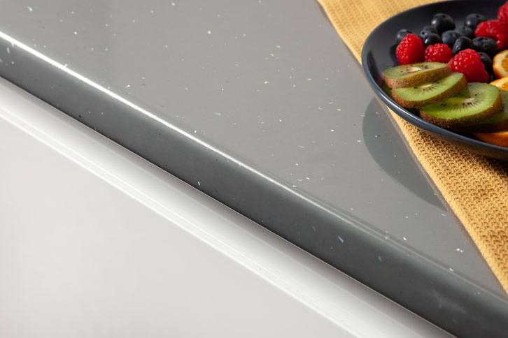 Grey Sparkle (Andromeda) Laminate Worktop Edge