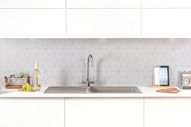 Pure White Super Matt Worktop in Kitchen