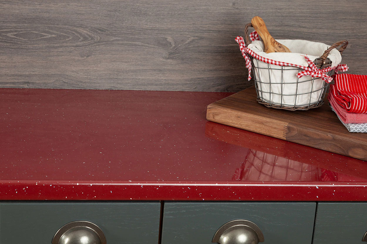 Go to our Red Andromeda Laminate Worktop gallery page