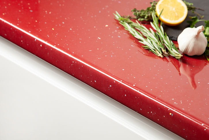 Red Andromeda Laminate Worktop Edge