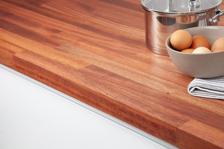 Sapele Worktop Edge