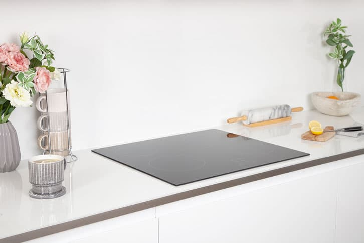 White Glass Effect Worktop Surface