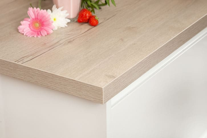 White Oak Laminate Worktop Corner