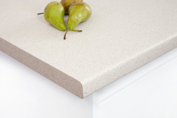 White Quartz Laminate Worktop Corner