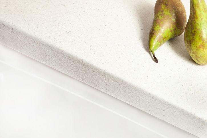 White Quartz Laminate Worktop Edge