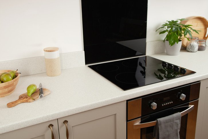 White Quartz Laminate Worktop Surface