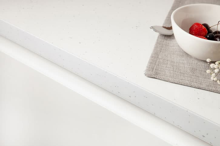 White Sparkle Laminate Worktop Edge