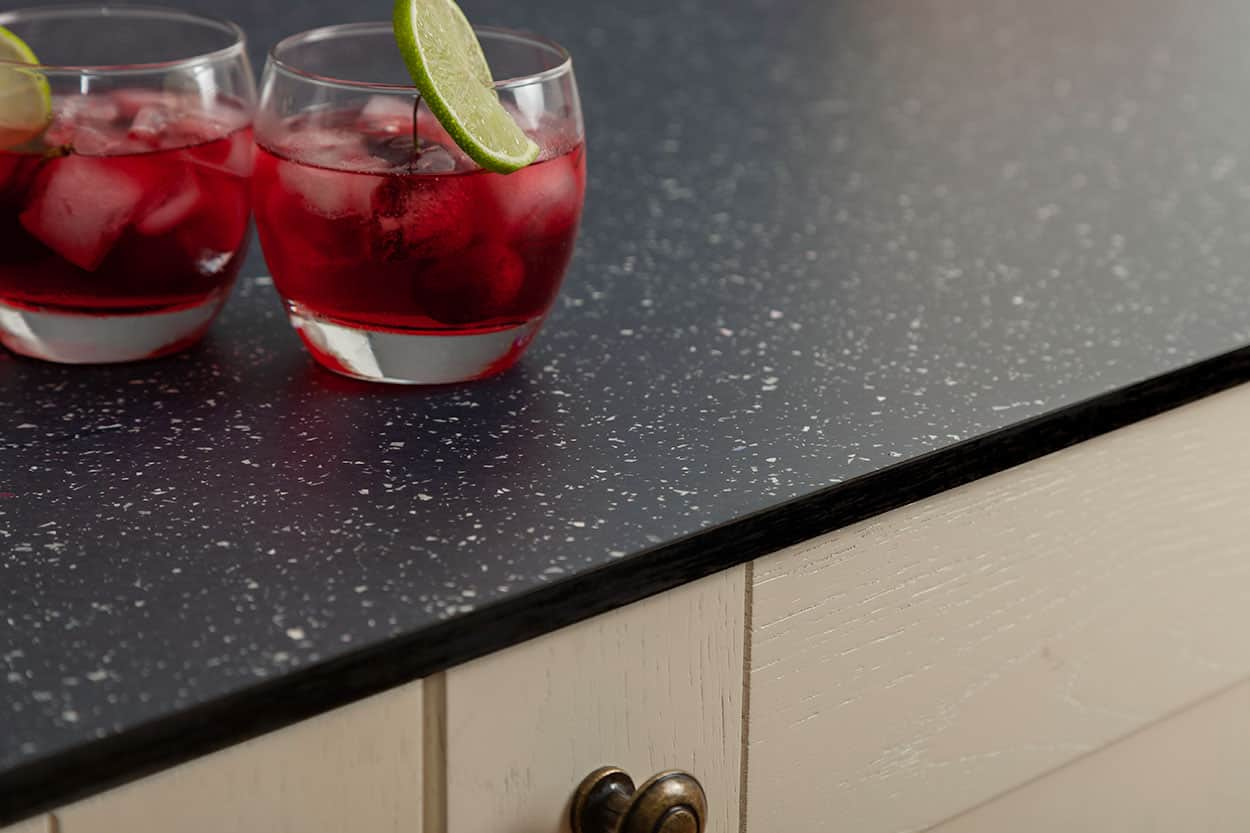 Black Sparkle Solid Laminate Worktop Gallery