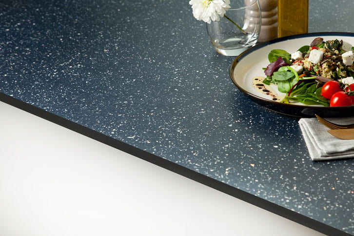 Black Sparkle Solid Laminate Worktop Edge