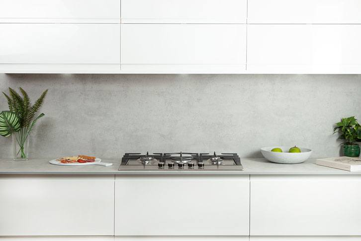 Cloudy Cement effect Kitchen Island