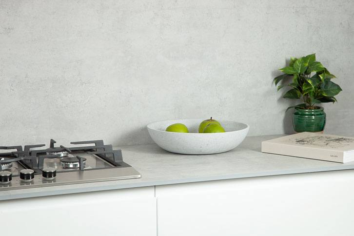 Cloudy Cement effect Worktop with Sink
