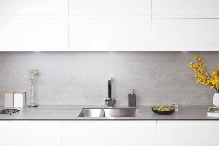 Concrete Solid Laminate Worktop in Kitchen