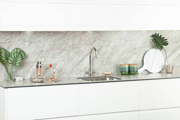 Grey Marble effect Kitchen Worktop