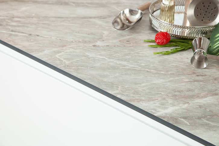 Grey Marble effect Worktop Edge