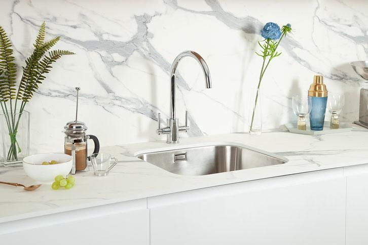 Marble Veneto effect Kitchen Worktop