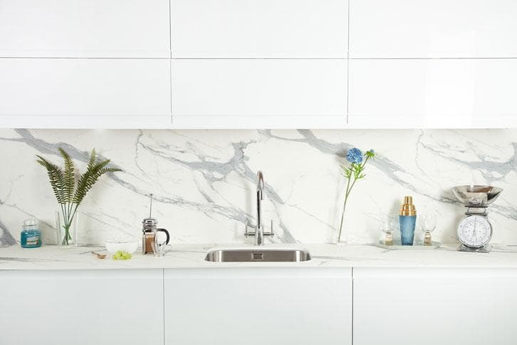 Marble Veneto effect Kitchen Island