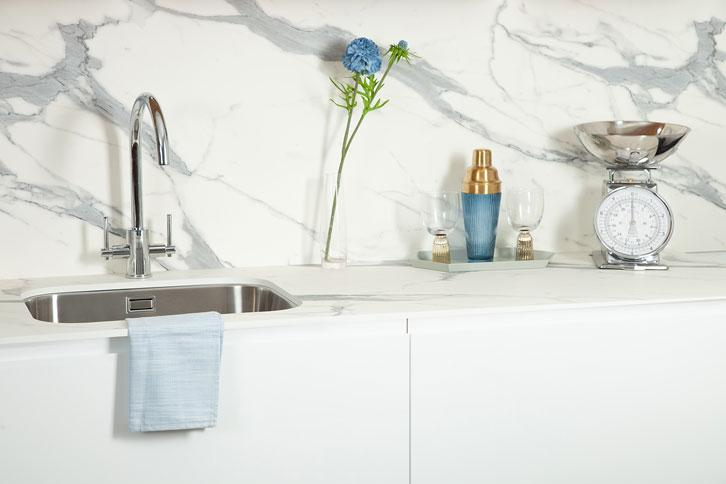 Marble Veneto effect Worktop with Sink