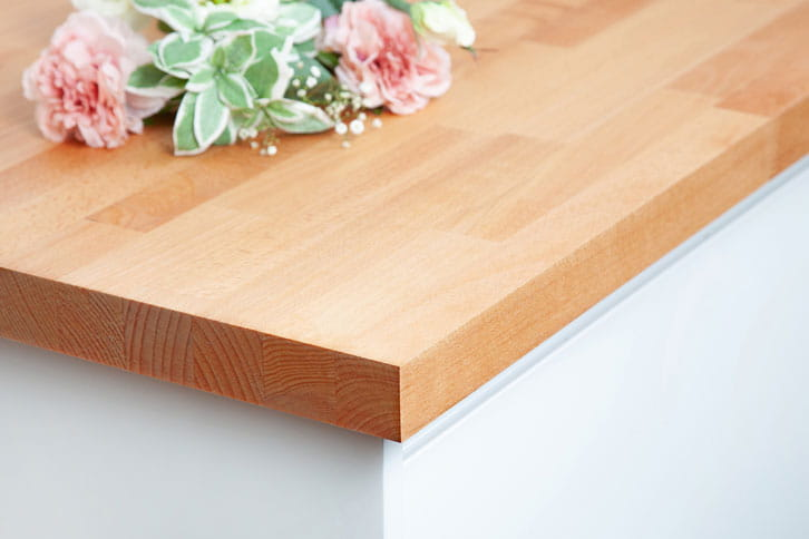 Solid Beech Kitchen Worktop Corner