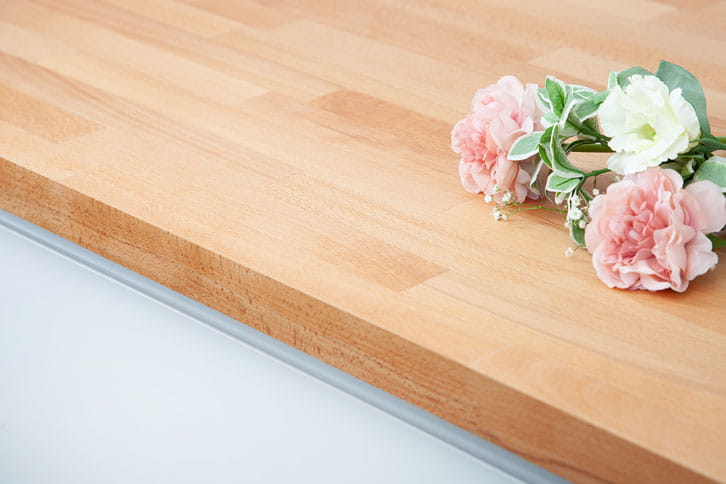 Solid Beech Kitchen Worktop Edge