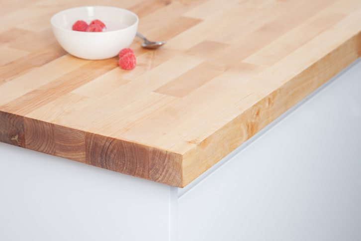 Birch Kitchen Worktop Corner