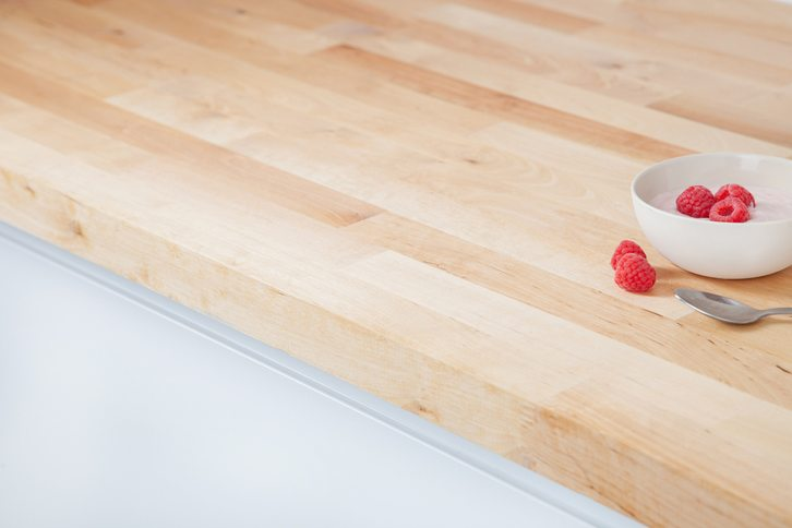Birch Kitchen Worktop Edge