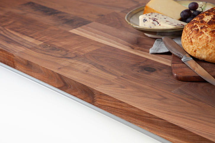 Deluxe American Walnut Worktop Edge