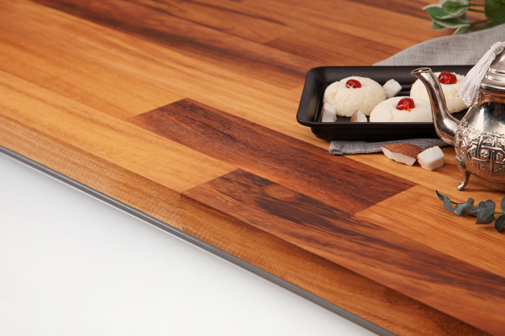 Deluxe Iroko Worktop Edge