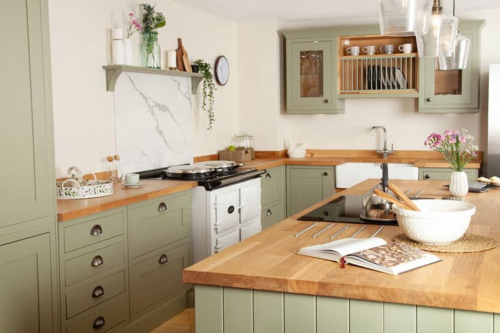 Deluxe Oak Worktop in Kitchen