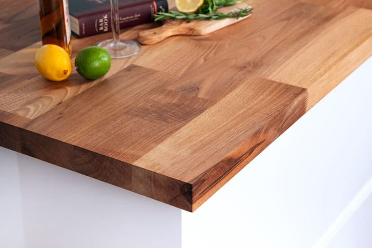 Deluxe Walnut Worktop Corner