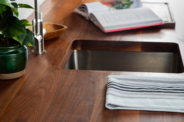 Full Stave American Walnut Kitchen Worktop