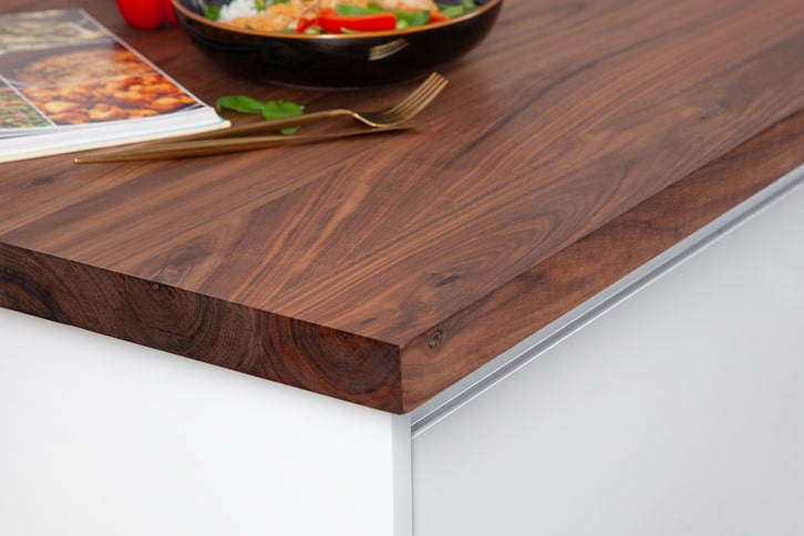 Full Stave American Walnut Worktop Corner