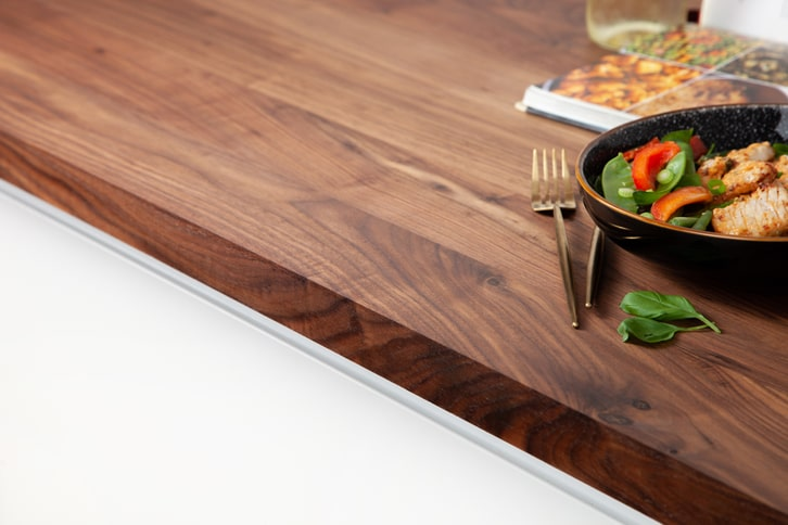 Full Stave American Walnut Worktop Edge