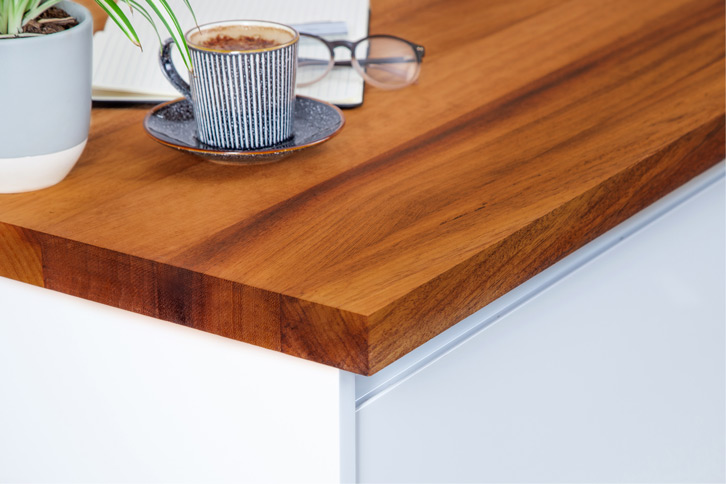 Full Stave Iroko Worktop Edge