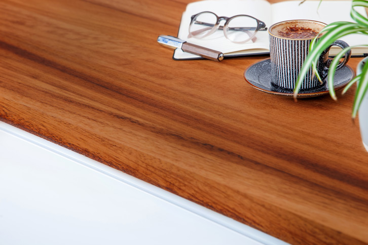 Full Stave Iroko Kitchen Worktop