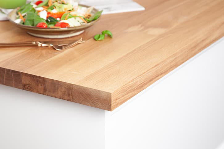Full Stave Prime Oak Kitchen Worktop Corner