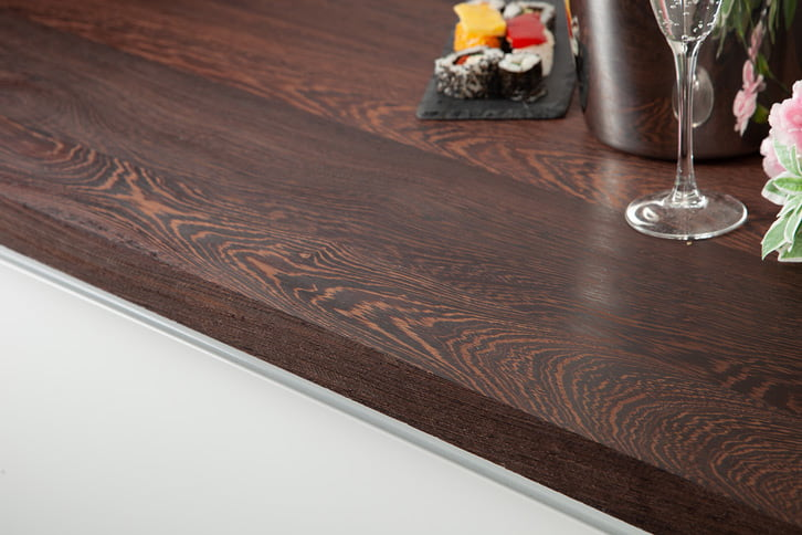 Full Stave Wenge Worktop Edge