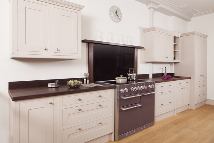Full Stave Wenge Worktop in Kitchen