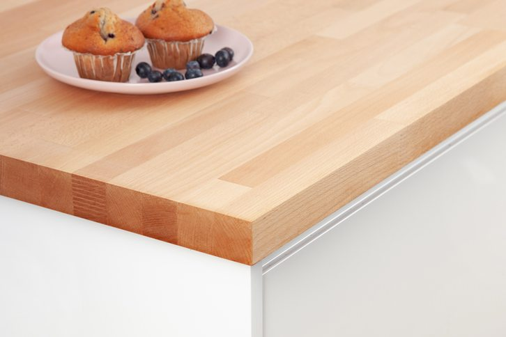 Prime Beech Kitchen Worktop Corner
