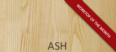 NEW Ash Hardwood Tops: April's Worktop of the Month