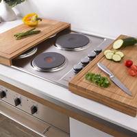 These bamboo worktop savers are perfect wooden kitchen accessories for compact kitchens with matching bamboo worktops.
