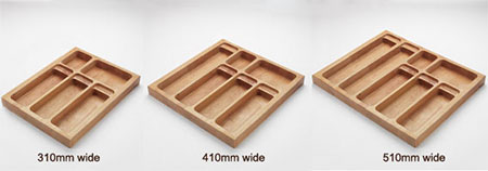 Beech solid wood cutlery drawer inserts