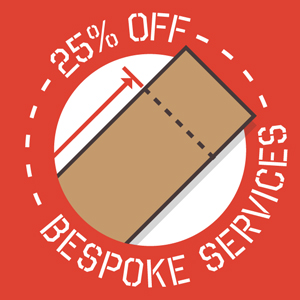 Order by June 15th and save 25% on any worktop customisations ordered via our Online Bespoke Worktop Tool