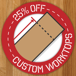 25% off Fabrication Services for Solid Wood Kitchen Worktops