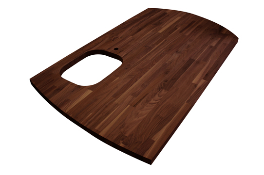 Black American Walnut Wood Block Worksurfaces