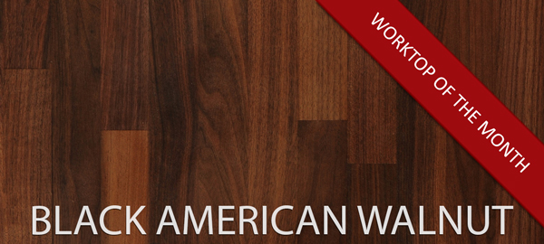 Our black American walnut wooden worktops are a popular choice for those who prefer a dark and luxurious surface.