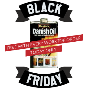FREE 1L Rustins Danish Oil with Every Worktop Order
