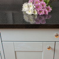 Our black gloss laminate worktops have a contemporary square edge profile and are an ideal choice for modern kitchens.